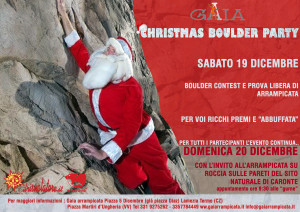 CHRISTMAS BOULDER PARTY